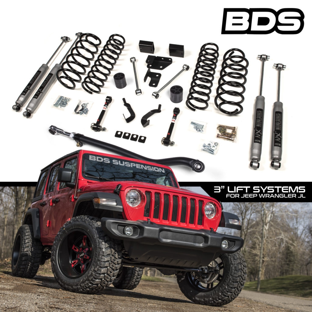 BDS Suspension 3 inch JL lift graphic