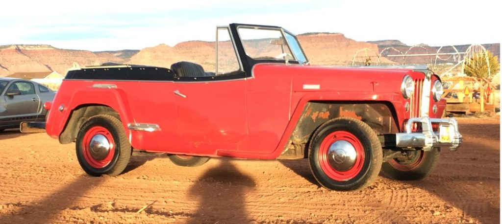 willys jeepster side view
